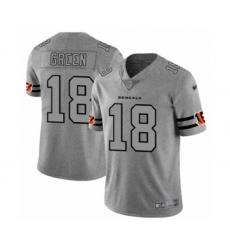 Men's Cincinnati Bengals #18 A.J. Green Limited Gray Team Logo Gridiron Football Jersey