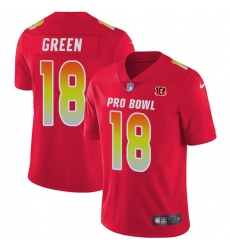 Youth Nike Cincinnati Bengals #18 A.J. Green Limited Red 2018 Pro Bowl NFL Jersey