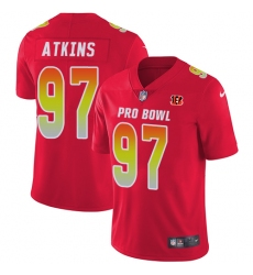 Youth Nike Cincinnati Bengals #97 Geno Atkins Limited Red 2018 Pro Bowl NFL Jersey