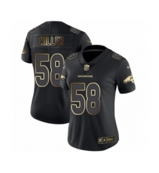 Women's Denver Broncos #58 Von Miller Black Gold Vapor Untouchable Limited Football Jersey