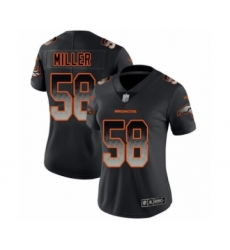 Women's Denver Broncos #58 Von Miller Black Smoke Fashion Limited Football Jersey