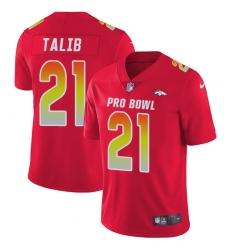 9084d92e046 ... official store womens nike denver broncos 21 aqib talib limited red  2018 pro bowl nfl jersey