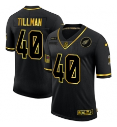 Men's Arizona Cardinals #40 Pat Tillman Olive Gold Nike 2020 Salute To Service Limited Jersey