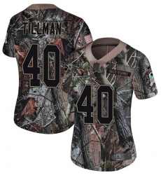 Women's Nike Arizona Cardinals #40 Pat Tillman Limited Camo Rush Realtree NFL Jersey