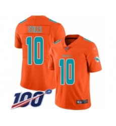 Youth Miami Dolphins #10 Kenny Stills Limited Orange Inverted Legend 100th Season Football Jersey