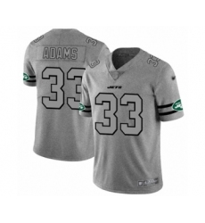 Men's New York Jets #33 Jamal Adams Limited Gray Team Logo Gridiron Football Jersey