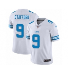 Men's Detroit Lions #9 Matthew Stafford Limited White Team Logo Fashion Football Jersey