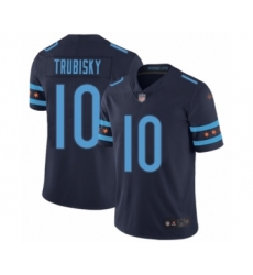 Youth Chicago Bears #10 Mitchell Trubisky Limited Navy Blue City Edition Football Jersey