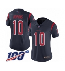 Women's Nike Houston Texans #10 DeAndre Hopkins Limited Navy Blue Rush Vapor Untouchable 100th Season NFL Jersey